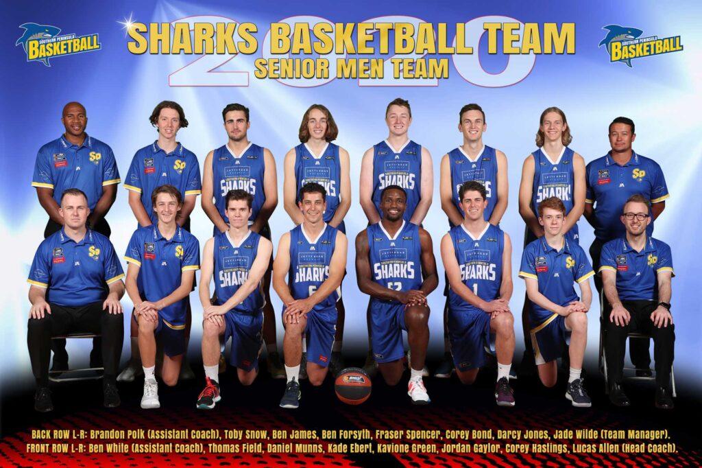 Senior Men Basketball Sharks Team