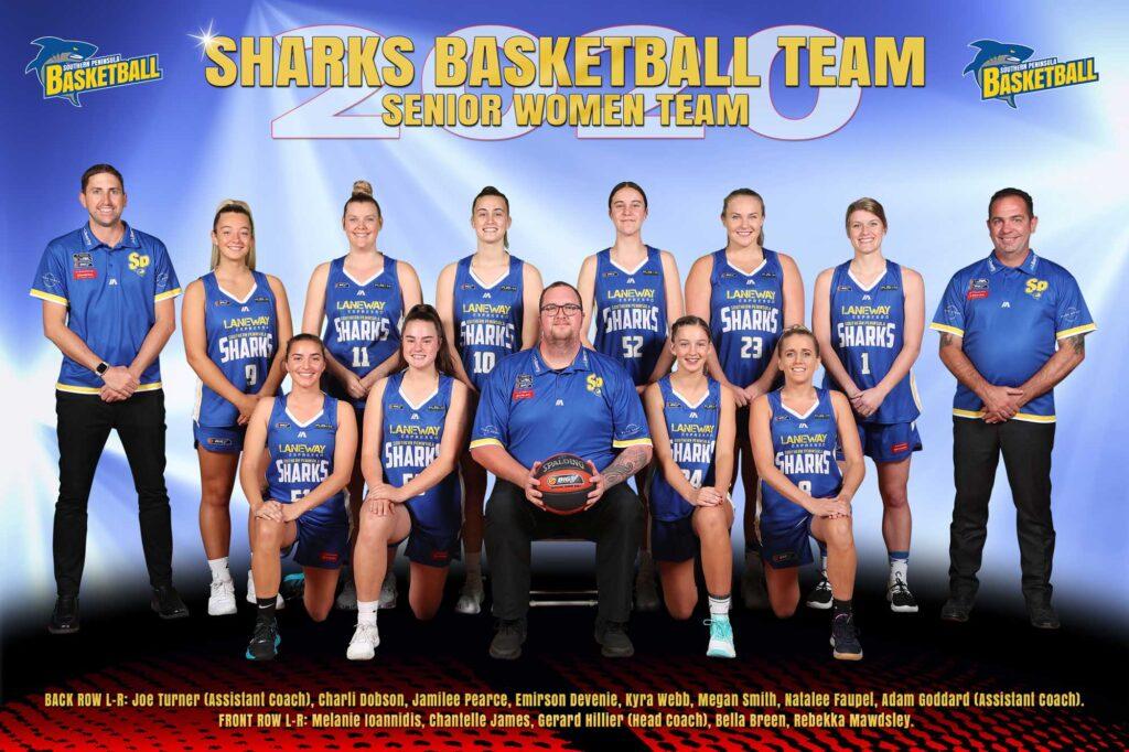 Senior Women Basketball Sharks Team